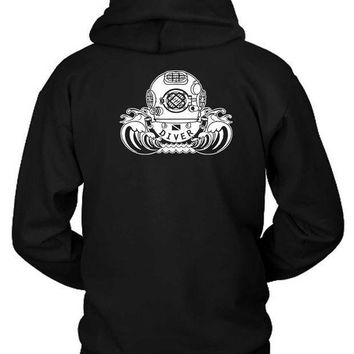 Youth Kids Scuba Diving Hoodie Two Sided