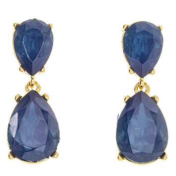 Donna Crystal Teardrop Earrings