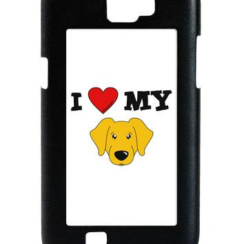I Heart My - Cute Yellow Labrador Retriever Dog Galaxy Note 2 Case  by TooLoud