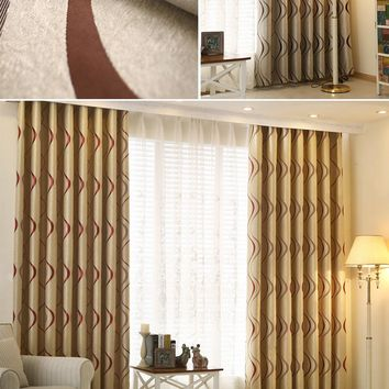 Thick Luxury Wavy Striped Curtain