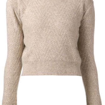The Elder Statesman 'Itsa' cropped sweater