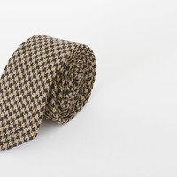 ALFRED - NAVY/BEIGE LARGE HOUNDSTOOTH | Shipley & Halmos