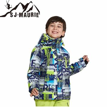 SJ-Maurie Outdoor Sportwears Kids Clothes Winter Ski Suit Windproof Snowboarding Jackets Winter Snow Girls Clothes Boys Clothes