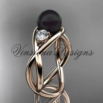 14kt rose gold pearl engagement ring VBP8156