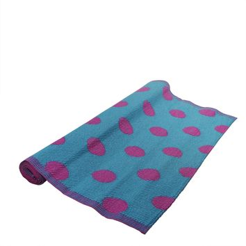 4' x 6' Fancy Fair Playful Polka Dots Outdoor Patio Area Throw Rug