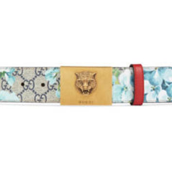 Gucci GG Blooms belt with plaque buckle
