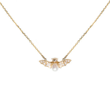 Jeweled Bat Necklace - Catbird