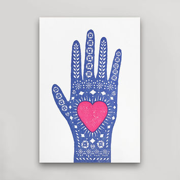 Heart In Hand Postcard