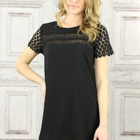 Little Black Tea Lace Dress