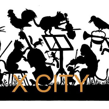Forest Animal Band Concert Cartoon Silhouette Wall Art Decal Sticker Removable Vinyl Cut Transfer Stencil Mural Home Room Decor