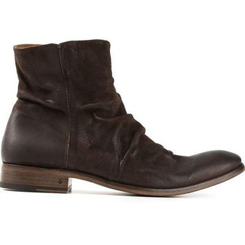 CREYONJF John Varvatos creased ankle boots