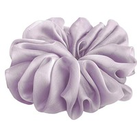 Light Lilac Lavender Hair Scrunchie Chiffon Bridal Hair Accessories Elastic Pony Tail Holder Retro Fancy Gift for Her