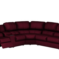 Palliser Melrose Large Recliner Sectional Sleeper Sofa with Console