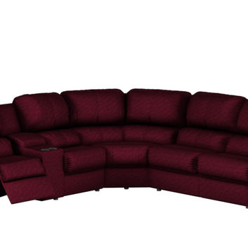 Large Reclining True Sectional Color Customizable Sofa with Console Melrose by Palliser