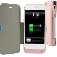 External Backup Power Bank Portable Rechargeable Battery Charger Case Cover for Apple iPhone 5 mobile Phone
