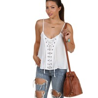 Sale-white Cant Tie Me Down Top