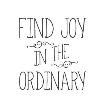Find Joy In the Ordinary (handwritten) for SAFE HAVEN