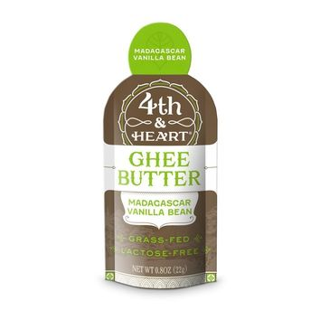 4th & Heart Ghee On The Go, Madagascar Vanilla Beans, 0.7 OZ - Pack of 5