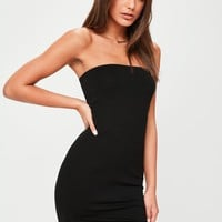 Missguided - Black Bandeau Mini Dress