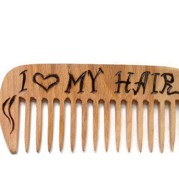 Wood comb Hair comb Personalized Hair Accessories Mother's day gift Custom comb  Gift for Her handmade Engraved comb Gift for women