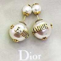 Dior Fashion new letter pearl earring women accessory