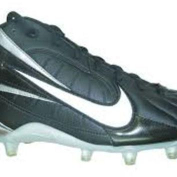 Nike Speed TD 3/4 ~ Black/Silver ~ Molded Mid Football / Lacrosse Cleats