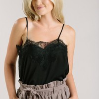 Rosalyn Black Lace Cami
