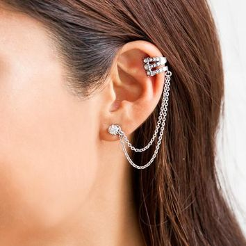 Ethereal Chandelier Ear Cuff + Studs by Chloe + Isabel