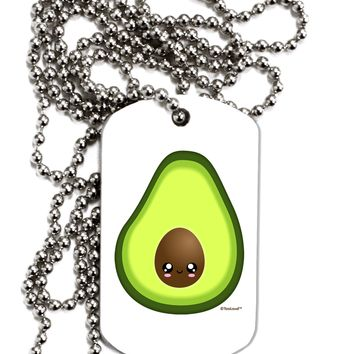 Cute Avocado Design Adult Dog Tag Chain Necklace by TooLoud