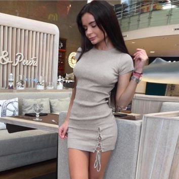 Sexy brunette skirt women's clothing, explosion-style corners with branded dress