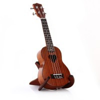 21 Soprano Ukulele Uke Sapele Wood Instrument with Heart Hole Brown - Default