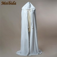 White Wedding custom size coat winter wedding Cape Satin Luxury jacket with trim sweep train bridal cape wedding wrap