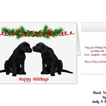 Black Lab Christmas Card - Labrador Holiday Card - Christmas In July - Dog Christmas Card - Black Lab Holiday card 7 - Black Dog Christmas