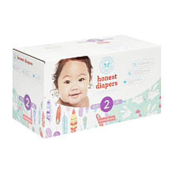The Honest Company Painted Feathers and Bunnies Size 2 Disposable Diapers Club Box - 76 Count