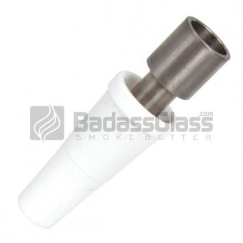 18mm Domeless Titanium Nail with Ceramic Adapter at BadAssGlass.com