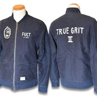 2014 FW Jacket True Grit Station / station jackets (3514) (PAWN / paan / pawn /Freshjive / flesh gives /enjoy / enjoy / fucking or some /VANS/STUSSY/XLARGE)