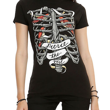 Pierce The Veil Bird Rib Cage Girls T-Shirt