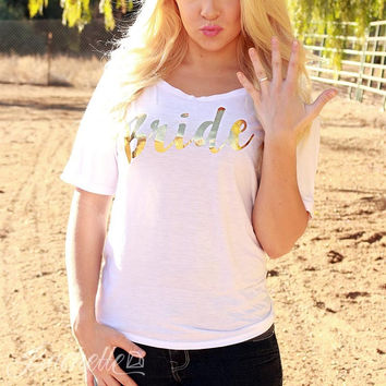 Gold Foil Bachelorette Party Shirts - Bride | Bridesmaid | Maid of Honor