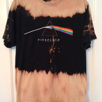PINK FLOYD bleach tie dyed t shirt