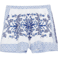 Collette by Collette Dinnigan - Printed linen shorts