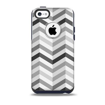 Grayscale Gradient Chevron Zigzag Pattern Skin for the iPhone 5c OtterBox Commuter Case
