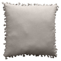 Camdon Gray Tassel Fringe Pillow 18 in.