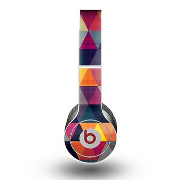 The Vector Triangular Coral & Purple Pattern Skin for the Beats by Dre Original Solo-Solo HD Headphones