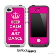 Pink Keep Calm and Just Dance Skin for the iPhone 5 or 4/4s LifeProof Case