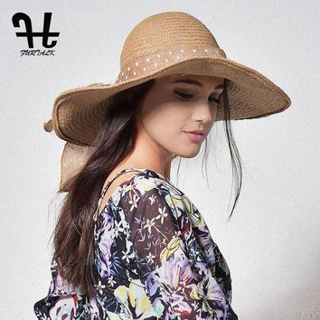NOV9O2 FURTALK Summer Straw Hats for Women Fashion Design Beach Sun Hat Foldable Wide Brim Straw Summer Hats for Women Beach Sun Hat