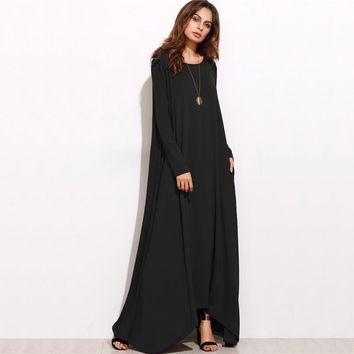 Asymmetrical Long Maxi Dress