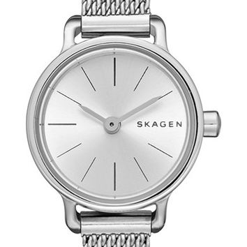 Women's Skagen 'Hagen' Mesh Strap Watch, 20mm - Silver