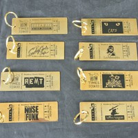 Vintage Broadway Theater Ticket Brass Key Chain