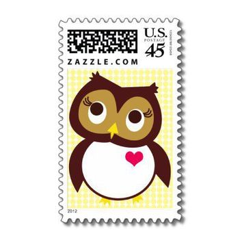 Owl Love You Stamp from Zazzle.com