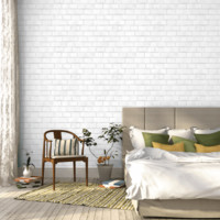 BRICK White - SHOP - Tempaper Designs